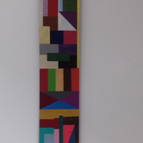 Acryl op MDF; 60 x 11;€ 66,- (of € 66,- of drie maandelijkse termijnen van € 22,-)