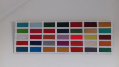 Acryl op mdf, 21 x 63 cm  € 66,-  (of in drie maandelijkse termijnen van €  22,-)