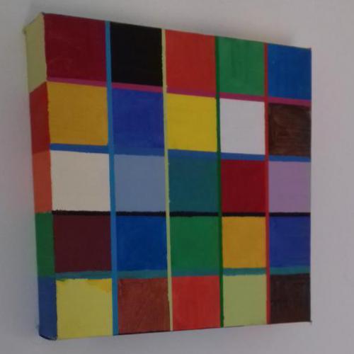 Acryl op doek; 20 x 20;€ 25,-