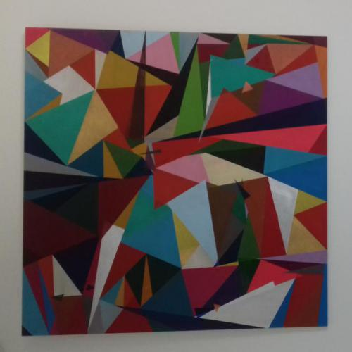 Acryl op MDF-paneel; 52 x 52; € 66,- (of in drie maandelijkse termijnen van € 22,-)
