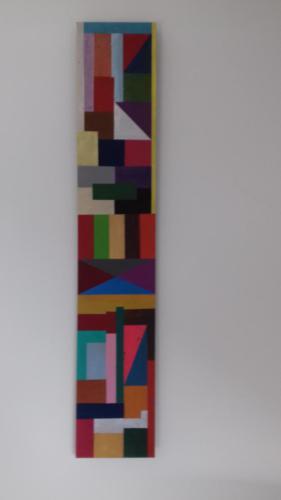 Acryl op MDF; 60 x 11€ 66,- (of in 3 maandelijkse termijnen van € 22,-)